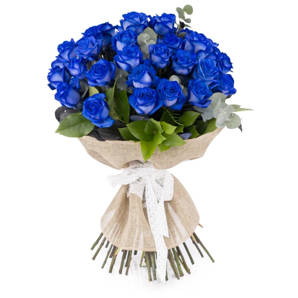 25 Trandafiri albastru